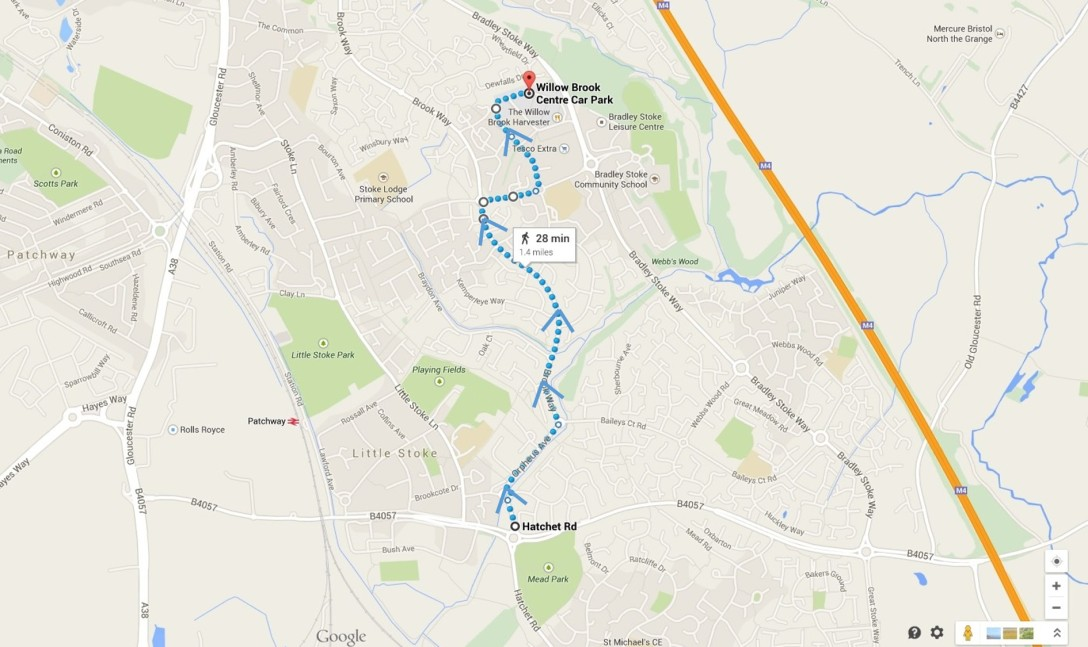 Directions via Gypsy Patch Lane_Winterbourne Road